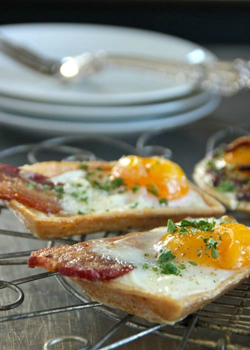 Bacon Egg Tarts | Breaksfast Dishes | Pinterest