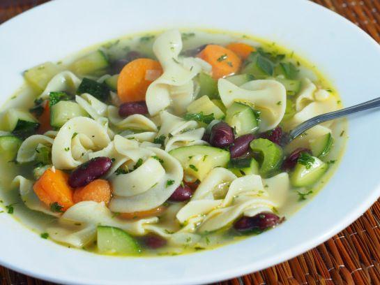 ... Noodle Soup! (Super Flavorful Bean and Pasta Soup) #soup #fall #vegan
