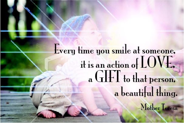Smile at someone today.