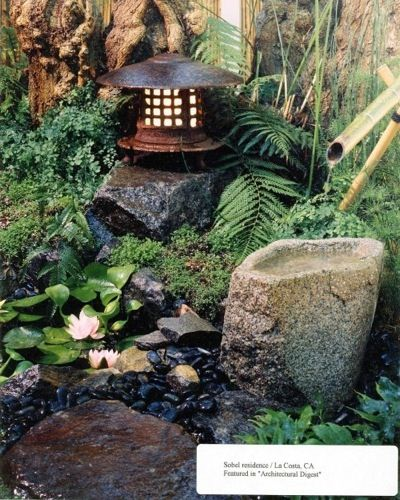 Japanese Garden Lantern Plants And Gardening Pinterest