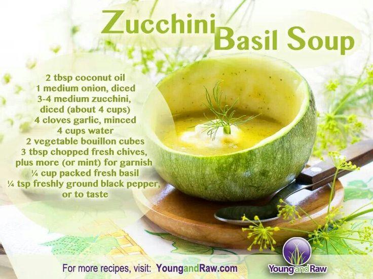 Zucchini basil soup | yummy | Pinterest