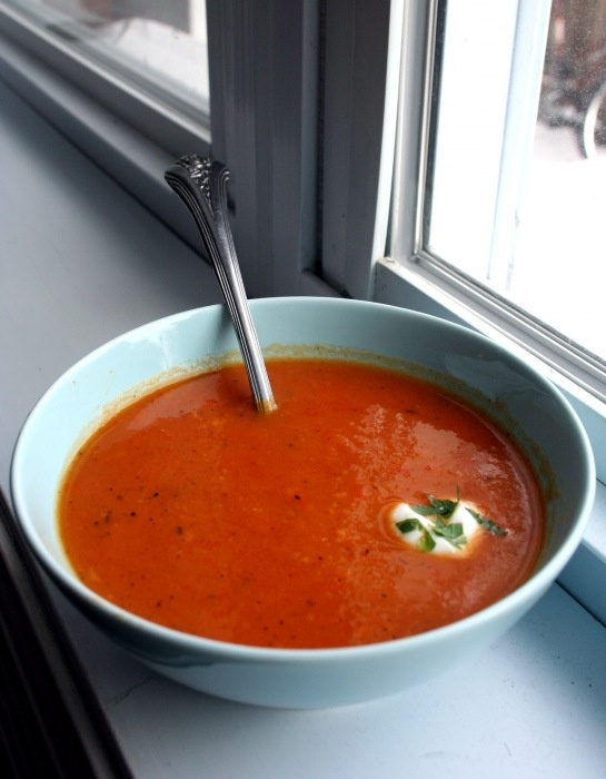 Roasted Red Pepper and Sweet Potato Soup | Soups | Pinterest