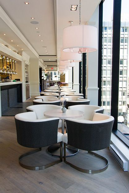 low seats and tables, The Chase Restaurant by Audax Architecture