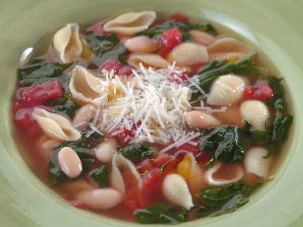 Pasta & Bean Soup | KitchenDaily.com - might try with quinoa pasta or ...