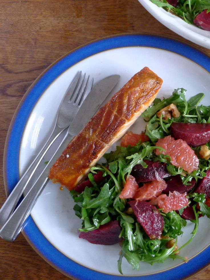 grapefruit amp rocket salad with toasted walnuts amp citrus dressing ...