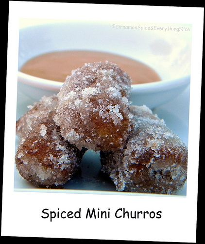 Spiced Mini Churros and Mayan Hot Chocolate