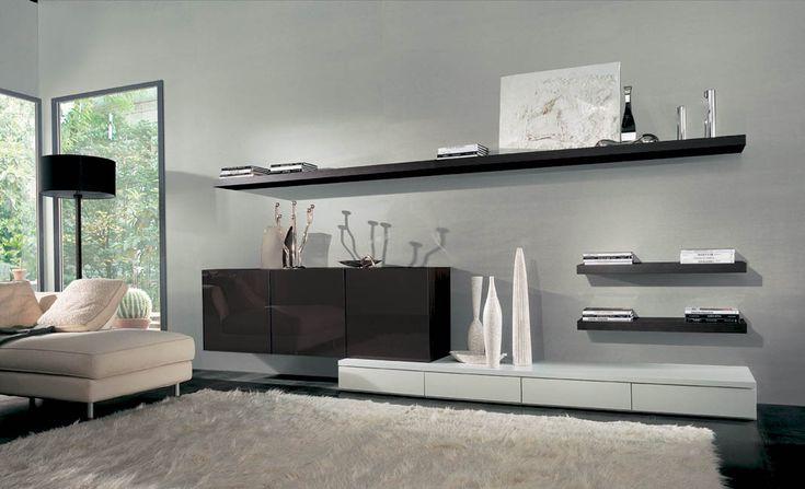 SOGGIORNI MODERNI, SOGGIORNO DESIGN, MADIE MODERNE  TV Units wall mount - st...