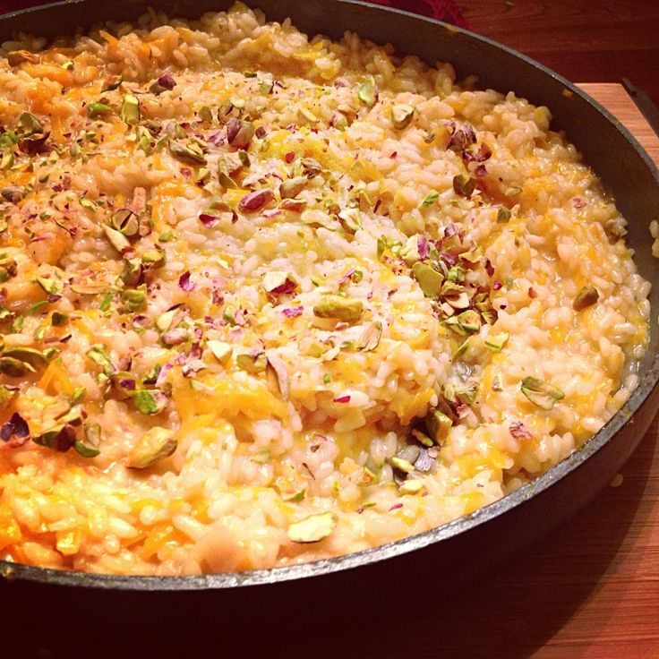 Butternut Squash Risotto With Pistachios And Lemon Recipe ...
