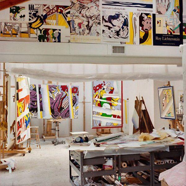 roy lichtenstein 39 s studio modern art pinterest