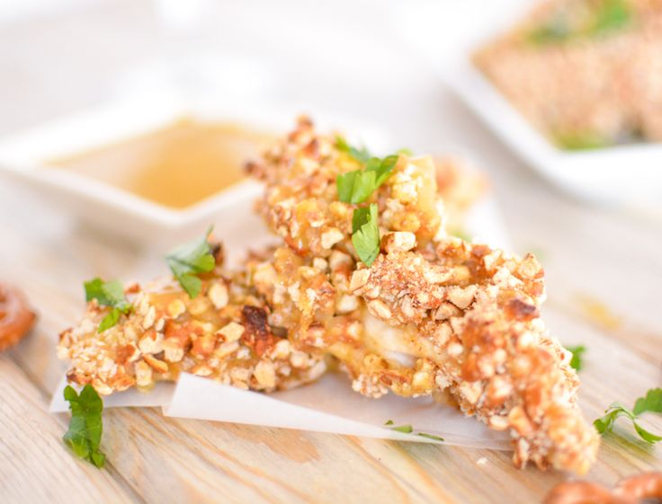 Pretzel-Crusted Chicken Tenders with Honey Mustard - If love to try to ...