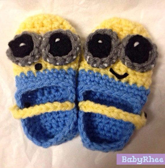 Free Crochet Pattern For Baby Minion Slippers : Minion Slippers - Crochet Crochet Pinterest