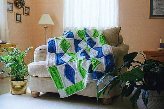 DIAMONDS pattern for crocheted blanket by ColorandShapeDesign, $5.00