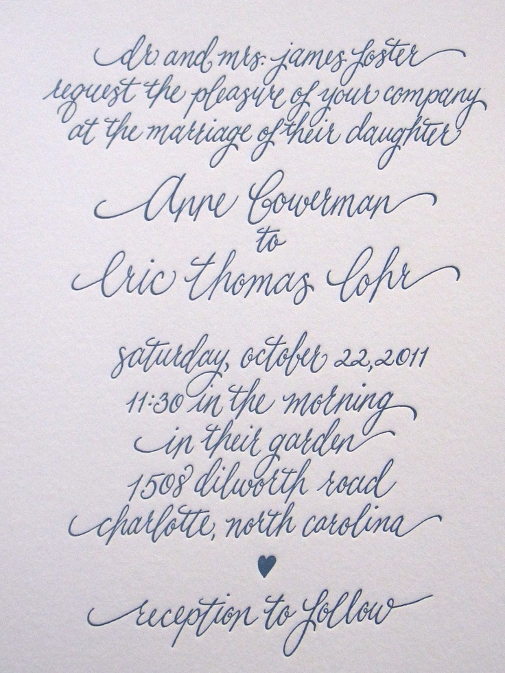 Calligraphy For Wedding Invitations could be nice ideas for your invitation template