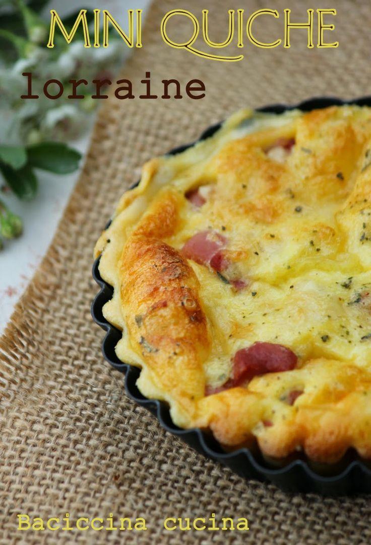 quiche lorraine mini# | Quiche et frittata et omelette | Pinterest
