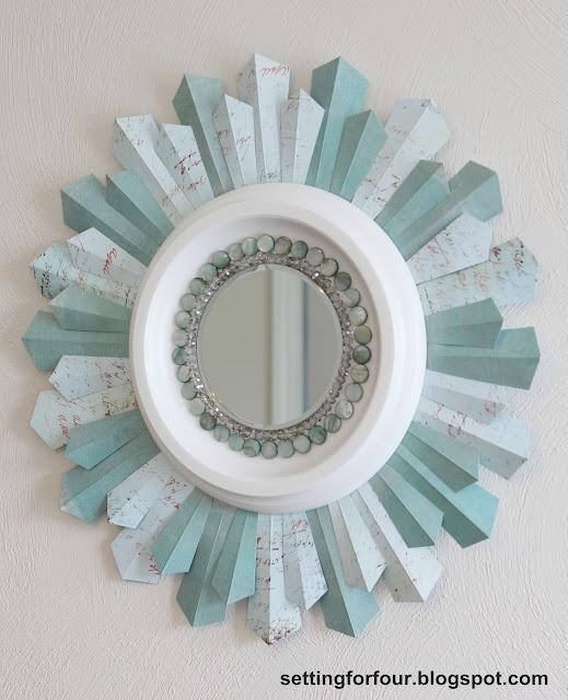 DIY wall starburst mirror