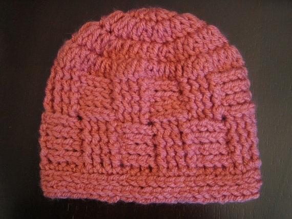Crochet PATTERN - Crochet Hat Pattern - Basket Weave ...