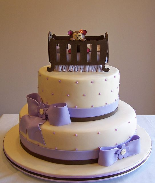 Monkey in a Crib Baby Shower cake