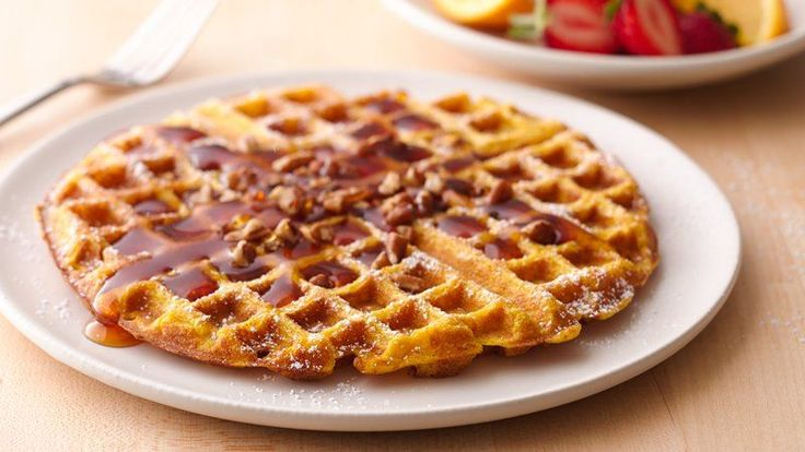 ... . They'll love the spicy, sweet hint of pumpkin in these waffles