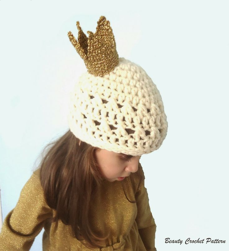 Crochet Queens Hat Pattern HATS Pinterest