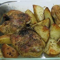 Crispy Rosemary Chicken and Fries Allrecipes.com