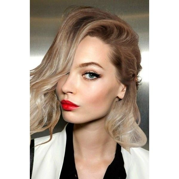 long hair red lips Hairstyles and Beauty Tips liked on Polyvore