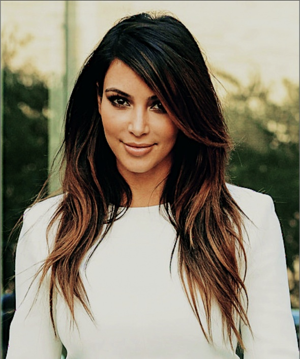 kim kardashian and her perfect hair �� ombre highlights