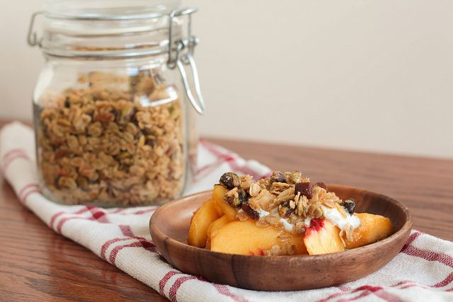 Olive Oil Granola with Apricots and Pistachios