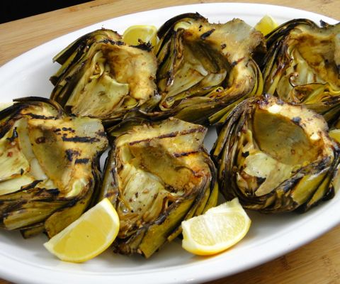 The secret to grilled artichokes? Steam before you grill! No more ...