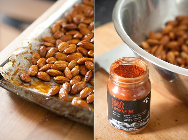 Roasted Honey-Thyme Almonds with Smoked Paprika (quick & easy snack to ...