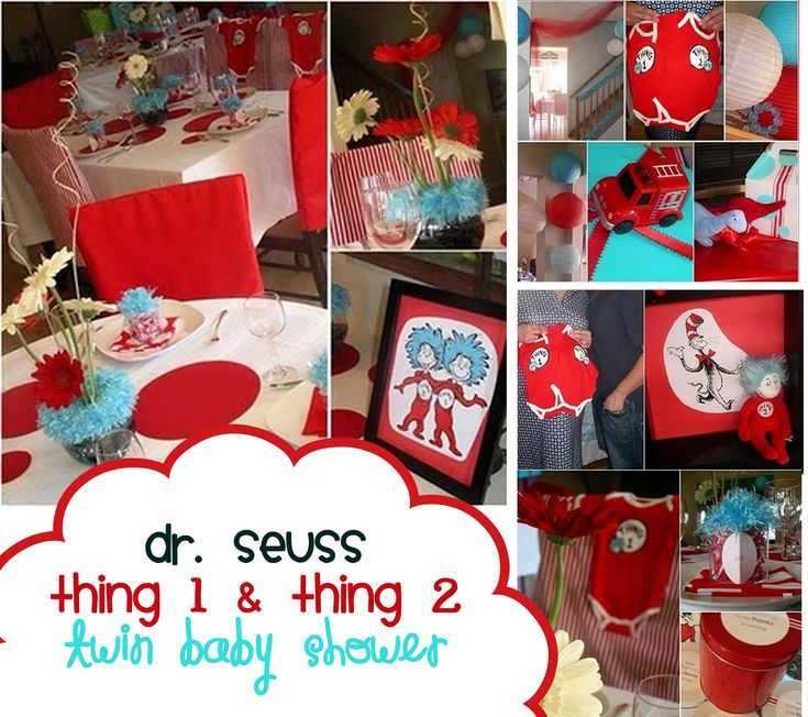 Thing 1 And Thing 2 Twin Baby Shower