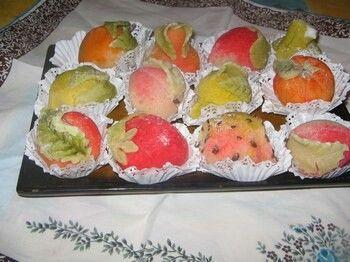 g teaux fruits a la p te d 39 amande gateaux algeriens traditionnels. Black Bedroom Furniture Sets. Home Design Ideas