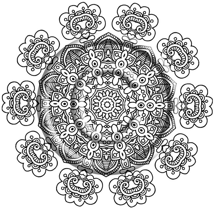 Zentangle Art With Color Free Printable Zentangle Coloring Pages