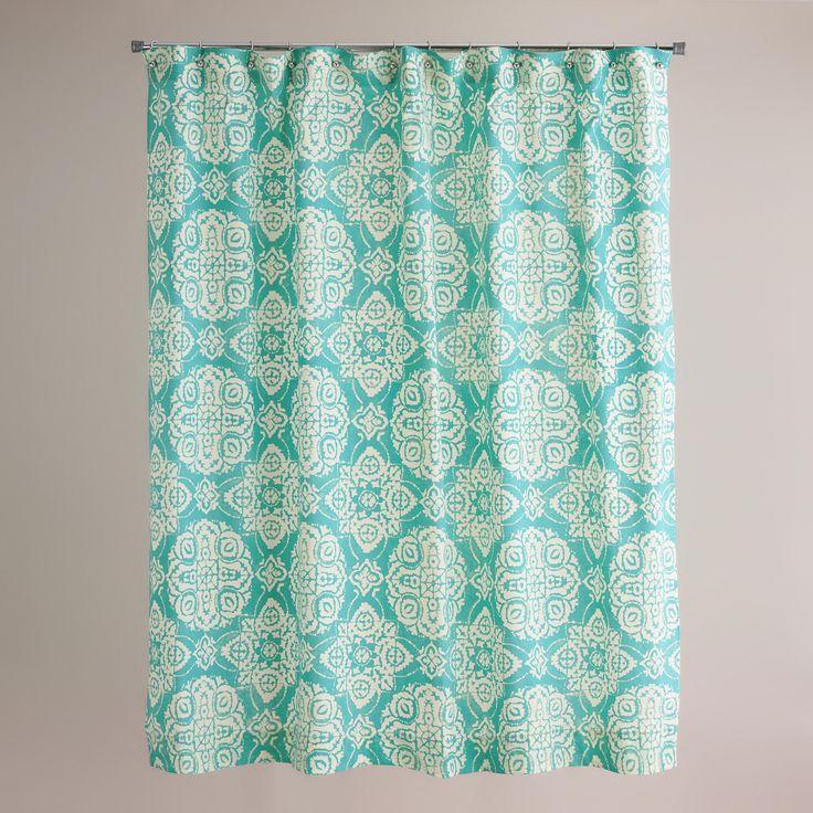 Turquoise Amina Medallion Shower Curtain   World Market