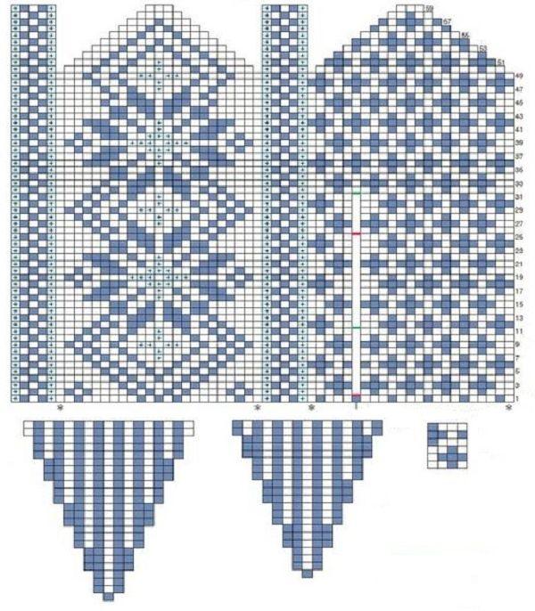 Knitting Chart Patterns Free : Glove knitting pattern: Free chart Knitting Pinterest