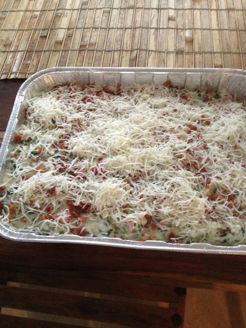 From Mary Kay Andrews...looks great...grits and greens casserole...