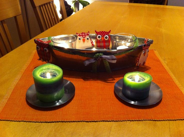 Herbstlich Eulige Tischdeko  Tischdeko  Pinterest