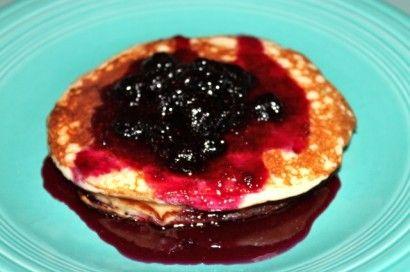 lemon yogurt pancakes with blueberry syrup great with warmed lemon ...