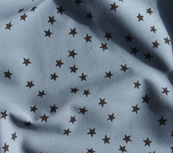 beautiful gray French batiste with stars!