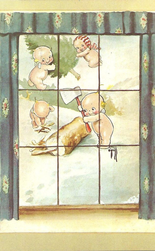 Kewpie postcards, via Etsy.