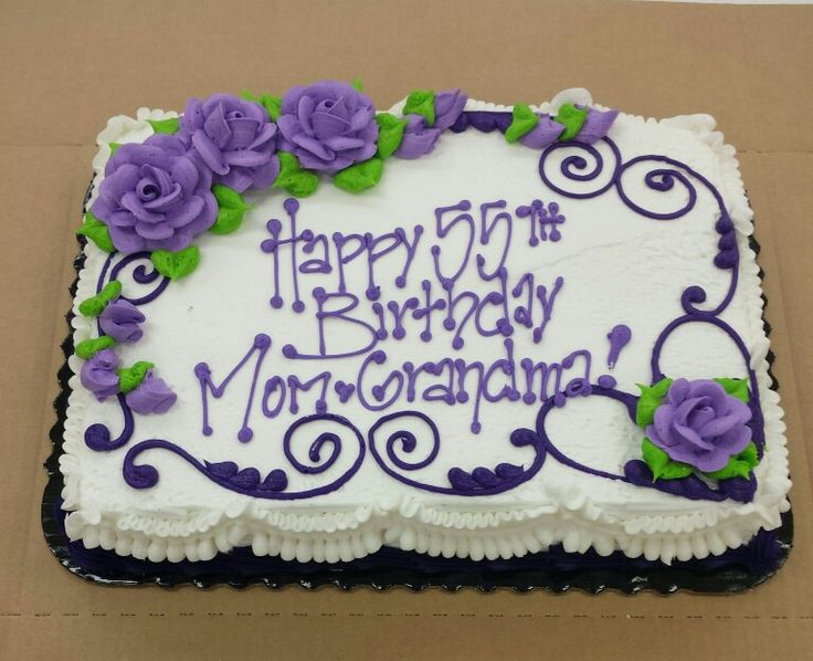birthday sheet cakes with flowers