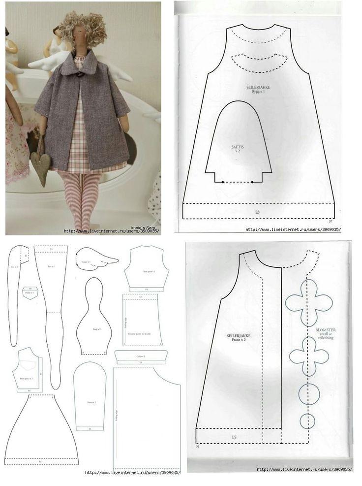 Одежда для куклы тильды своими руками выкройки