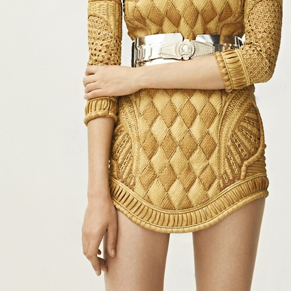 The wicker dress from #Balmain 2013 #Resort Collection