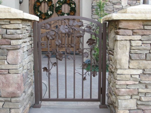 Small Wrought Iron Gate Outdoor Space Pinterest
