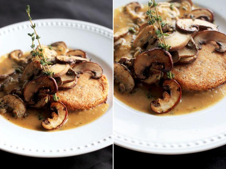 sweet potato & herb biscuits with mushroom & miso gravy #vegan and # ...
