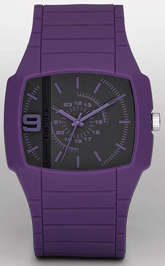 Diesel Unisex Purple Analogue Watch DZ13With Silicone Strap