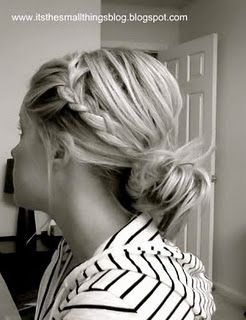 I love her blog with all these different hairstyle ideas