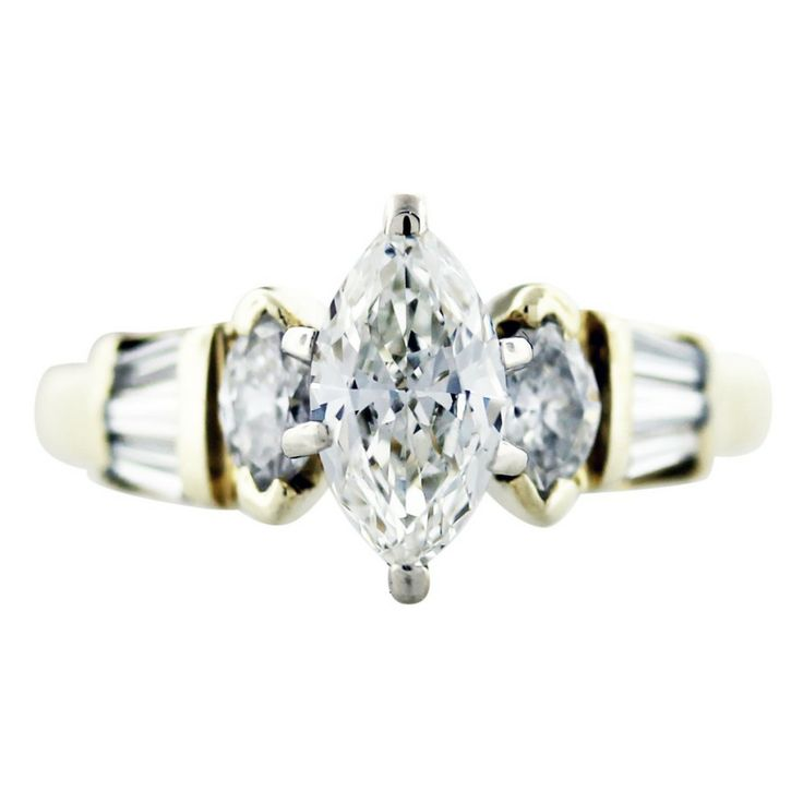 marquise diamond ring with side stones