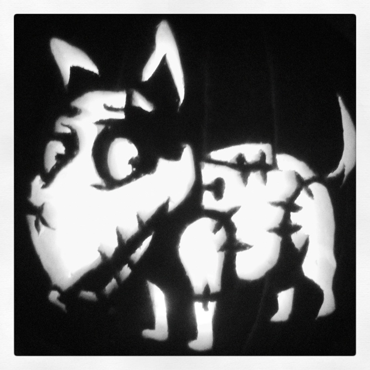 Sparky From Frankenweenie Pumpkin Took 1 5 Hours