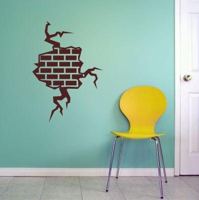 Exposed Brick Wall Decal Sticker Cheeky Raskal Wall