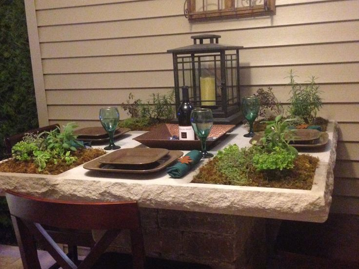 Herb Garden Table Flowers And Garden Ideas Pinterest